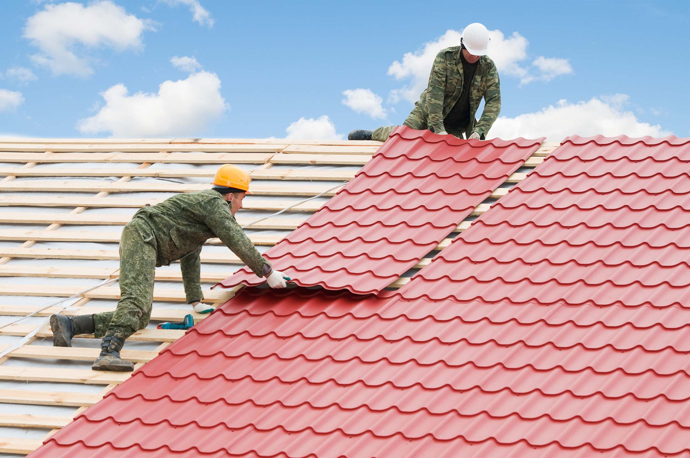 Roofing inalling metal materials
